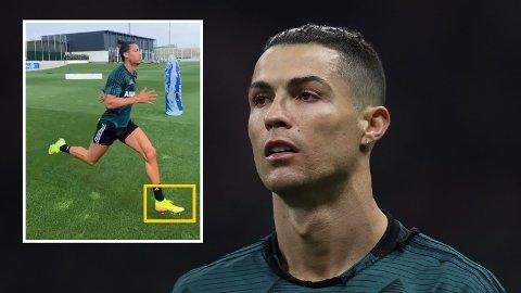 EGNE KNOTTER: Ronaldo skal ha begynt å ta i bruk nye knotter under fotballskoene. Det skal gi ham økt fleksibilitet og hurtighet.