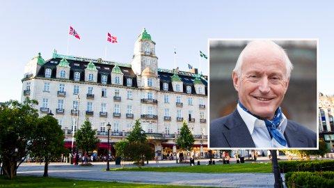 STOR INTERESSE: I 2017 kjøpte Scandic Hotels ikoniske Grand Hotel i Oslo av hotellkjeden Pandox, der Eiendomsspar-direktør Christian Ringnes er styreleder og storeier. Scandic-aksjen har fått en solid opptur den siste måneden, tross krisetider.