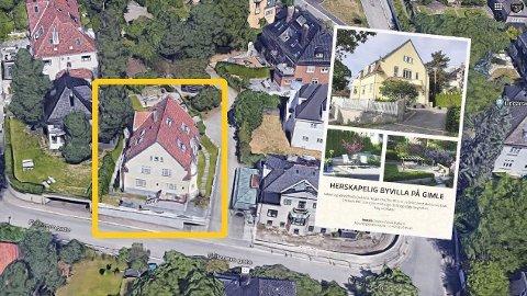 SELGER: Denne boligen på Gimle i Oslo blir for stor for investor Lars Ditlevsen og kona Giselle Kristo Ditlevsen når nesten alle barna har flyttet ut.