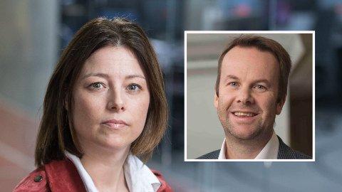 ISFRONT: TV 2s Sarah Willand, direktør for organisasjon og kommunikasjon i TV 2, står steilt motkommunikasjonsdirektør Henning Lunde i Telia Norge.