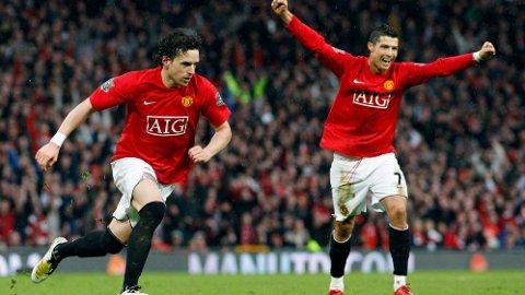 LAGKAMERATER: Owen Hargreaves og Cristiano Ronaldo spilte to sesonger sammen i Manchester United.