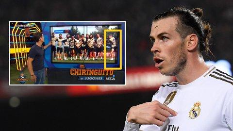 FORE: På ny skaper Gareth Bale debatt i spansk fotball med dette treningsbildet.