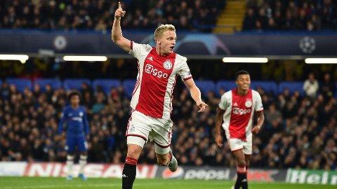 UNITED-MÅL? Donny Van de Beek skal være ønsket av Ole Gunnar Solskjær og Manchester United.