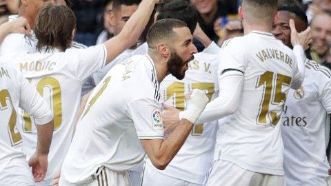 Karim Benzema og Real Madrid er storfavoritter hjemme mot Eibar i dag.