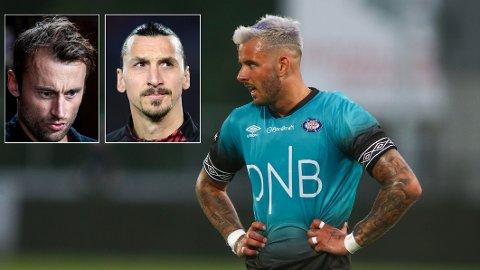 STORE STJERNER: Aron Dønnum er kanskje ikke helt på stjernenivået til Petter Northug og Zlatan Ibrahimovic enda, men VIF-kapteinen ser i alle fall noen likheter.