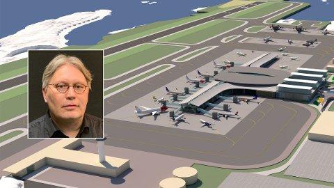 900 METER: Nye Bodø lufthavn skal flytte rullebanen 900 meter og bygge en helt ny flyplass. Ny rapport mener det er et samfunnsøkonomisk sluk.