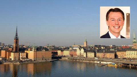 SVENSK SUKSESS: Nordiske fond har gjort det bra historisk. Odinfondenes Sverige-fond har gitt 17 prosent avkastning årlig sidne oppstarten i 1995. I dag forvaltes porteføljen av Jonathan Schönbäck. Bildet viser Gamla Stan på avstand