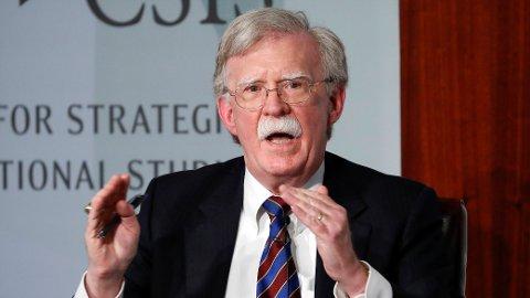 AVVISER: Trump-administrasjonen har ikke fått rettens medhold i forsøket på å stanse boken til presidentens tidligere sikkerhetsrådgiver John Bolton.