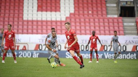 VIKTIG SEIER: Eliteseriekampen i fotball mellom Brann og Viking på Brann Stadion.