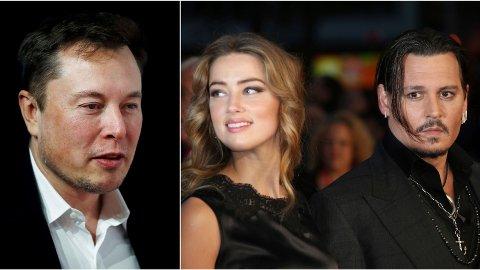 TREKANTDRAMA: Johnny Depp hevder i nye rettsdokumenter at ekskona Amber Heard skal ha hatt en trekant med Elon Musk og Cara Delevingne.