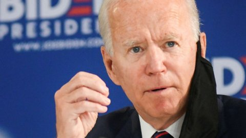 Joe Biden, Demokratenes mye omtalte presidentkandidat, under et valgkampmøte i Philadelphia tidlig i juni.
