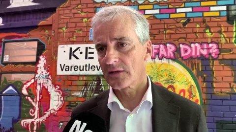 SKUFFENDE: AP får bare 20,8 prosent oppslutning på Tv2-gallup. Her ved partileder Jonas Gahr Støre.