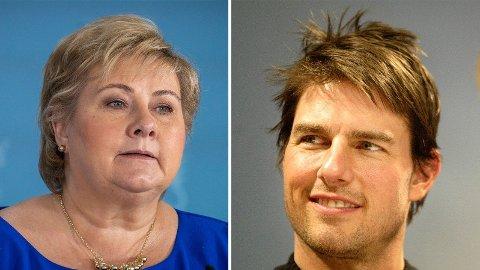 VIL MØTES: Tom Cruise vil møte Erna Solberg.