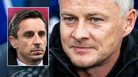 KLAR TALE: Gary Neville og Ole Gunnar Solskjær er enige om at Manchester United ikke må ha hvilepuls på grunn av den gode formen.