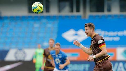 Mjøndalens Christian Gauseth kom inn som innbytter i 2-1-tapet mot Molde.