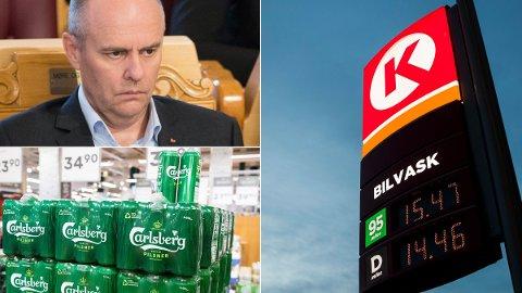 UAKTUELT: Steinar Reiten (KrF) mener det er helt uaktuelt med øl på bensinstasjon, og mener det kan føre til flere dødsfall i trafikken.