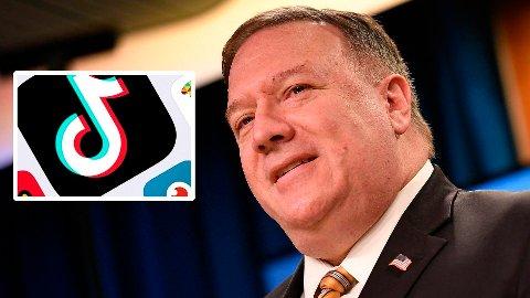 USAs utenriksminister Mike Pompeo sier landet vurderer forbud mot den kinesiske videoappen TikTok, på bakgrunn av anklager om at Kina kan bruke appen til å overvåke brukerne.