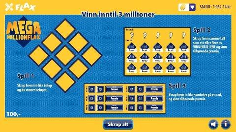 Mega MillionFlax er det dyreste Flax-loddet, men har også det spillet med høyest premie.