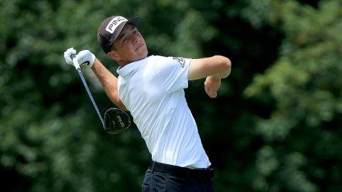 IMPONERTE: Viktor Hovland tok sin andre pallplass noensinne i PGA-touren.