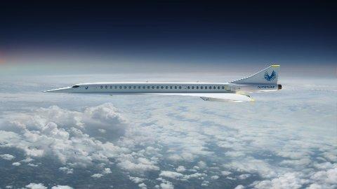 OVERTURE: Slik ser flytypen Overture fra Boom Supersonic ut.