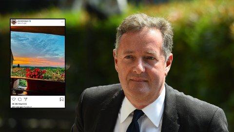 Piers Morgan er i Frankrike, noe som får flere til å reagere.