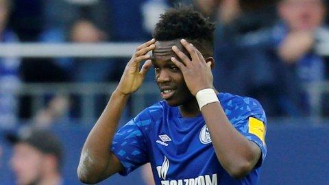 Schalke 04's Rabbi Matondo har fått et forklaringsproblem etter en treningsøkt hjemme i Wales.