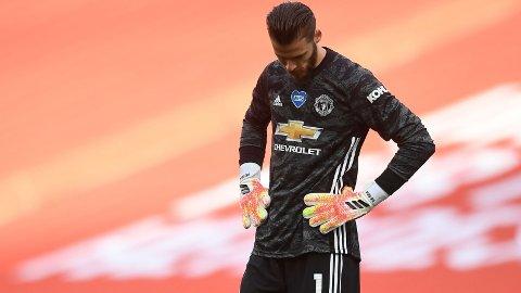 David de Gea må ta på seg store deler av skylden for at Manchester United røk ut av FA-cupen. Foto: REUTERS/Andy Rain