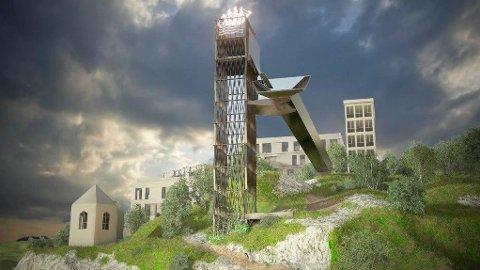FJELLHEIS: Denne fjellheisen skulle koste 50 millioner kroner. Nå er prislappen på over 90 mill.