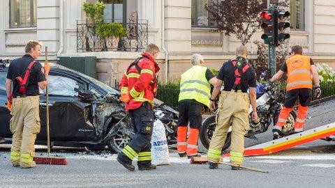 DØDE: En mann døde etter en frontkollisjon i Oslo.