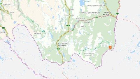Letingen foregår i området ved Andreas-Nilsen-hytta i Karasjok.