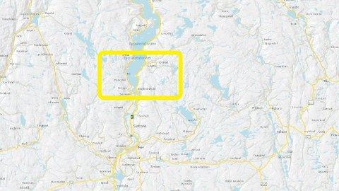 Ulykken skjedde i Grendi ved Byglandsfjorden.