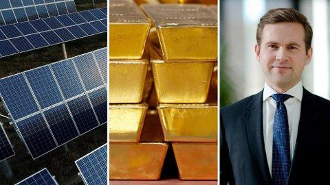 GULL OG GRØNNE SKOGER: Forvalter Tian Tollefsen har slått indeks med 15 prosent i år ved å satse på tre trender - to av dem er grønne aksjer og gull.