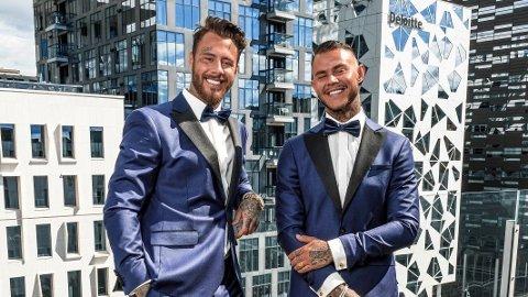 PROGRAMLEDERE: Realitybrødrene Daniel og Pierre Louis debuterer som programledere i «Singletown».