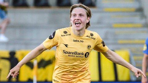 Jens Petter Hauge og Bodø/Glimt er på jakt etter nok en seier torsdag ettermiddag.