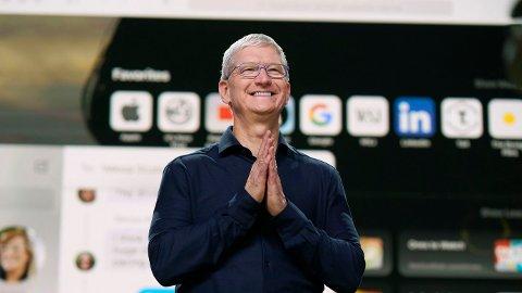 KRAFTIG ØKNING: Apple fikk 11 prosent vekst i forrige kvartal.