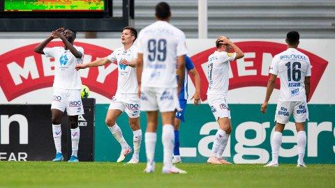 Molde-spillerne fortviler etter lørdagens bortetap mot Sandefjord.
