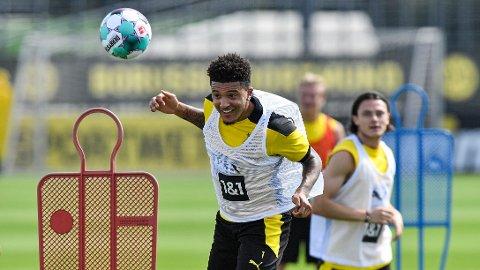 HETT: Få spillere har fått mer omtale enn Jadon Sancho i sommer. 20-åringen kobles fortsatt til Manchester United, men er nå tilbake i trening for Borussia Dortmund.