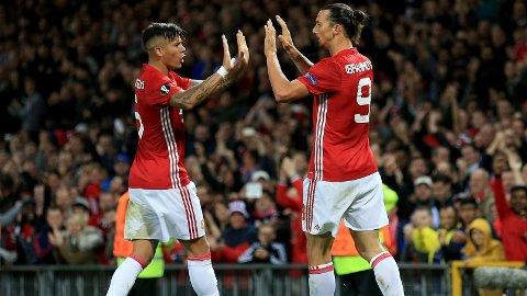 LAGKAMERATER: Marcos Rojos uttalelse mot Zlatan Ibrahimovic slo ikke godt an hos svensken.