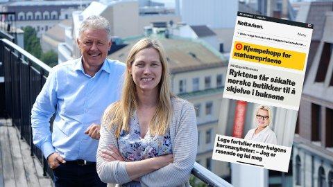 Nettavisen flyr høyt og setter nye abonnementsrekorder, konstaterer ansvarlig redaktør Gunnar Stavrum og Pluss-sjef Liv Ingrid Mellemseter.