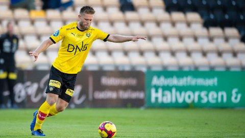 Lillestrøms venstreback Simen Kind Mikalsen fra oppgjøret mot Sogndal forrige uke.