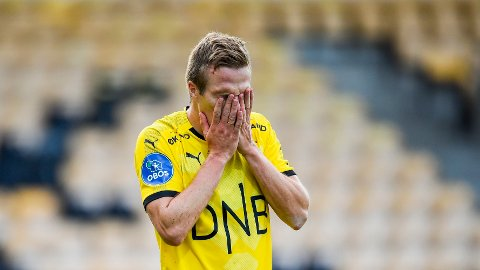 Lillestrøms Simen Kind Mikalsen depper etter kampen mot Stjørdals-Blink tidligere i sesongen.