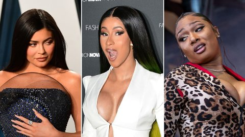 POPULÆRE: Etter at Cardi B og Megan Thee Stallion slapp musikkvideoen til «WAP» forrige uke, har søk etter dem skutt i været på PornHub. Det samme gjelder for Kylie Jenner, som medvirker i videoen.