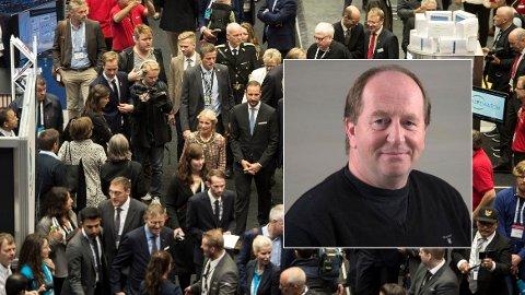 FYRER LØS: Oljeleverandør Dag Aldal i Clampon mener oljemessen ONS har vist en arrogant tilnærming til utstillerne som ikke har fått pengene tilbake. Her fra ONS i 2018, da Kronprins Haakon åpnet messen i Stavanger.