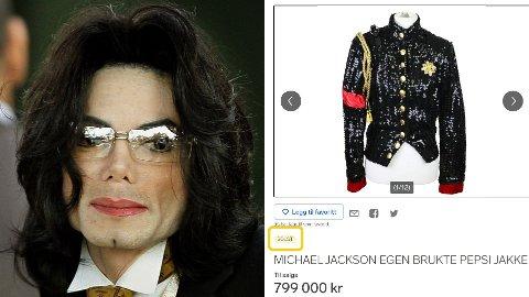 SOLGT: Michael Jacksons egen jakke har blitt solgt av en norsk entusiast.