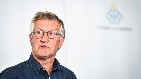 SMITTEØKNING: 28. juli øynet Sveriges statsepidemiolog Anders Tegnell håp om at Stockholm kunne bli åpnet for nordmenn. Den siste utviklingen er ikke lystig lesning for verken ham eller nordmenn som ønsker å besøke regionen.