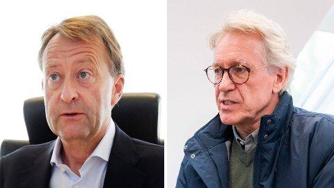 AVGJORT: Nå har Konkurransetilsynet tatt en vurdering på fusjonen mellom Bjørn Rune Gjelstens (til venstre) Sport 1 og Olav Nils Sundes Gresvig.