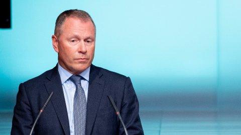 Leder i Norges Banks hovedstyre Øystein Olsen og påtroppende leder for kapitalforvaltningen Nicolai Tangen vil gjøre rede for utfallet av det ekstraordinære hovedstyremøtet.