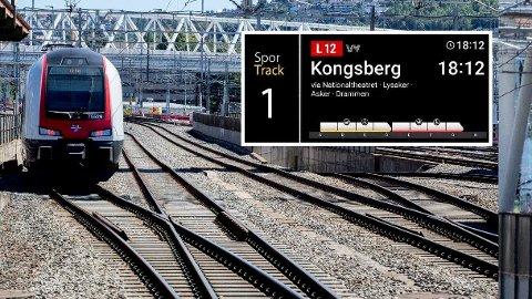 OVERSIKT: Nå vil du få oversikt over hvor fullt toget ditt er (innfelt), allerede mens du står på perrongen.