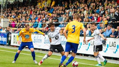 Brattvåg møter Hødd på bortebane lørdag. Dette bildet er hentet fra cupfesten mot Rosenborg i 2018.