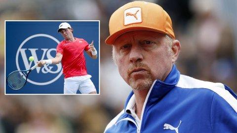 ADVARER: Boris Becker slo selv gjennom i tennisverdenen som tenåring. Nå advarer han det norske folk om å ha for høye forventninger til Casper Ruud.